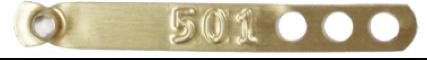 gold aluminum leg band
