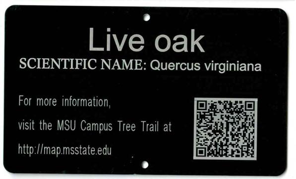 tree campus tag