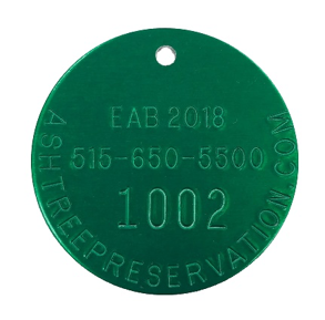 treated for emerald ash borer tag