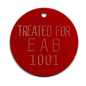treated for EAB tree tag