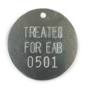 treated for EAB tag