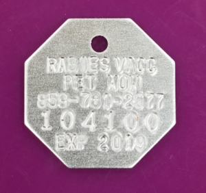 1 YEAR AND 3 YEAR RABIES TAGS