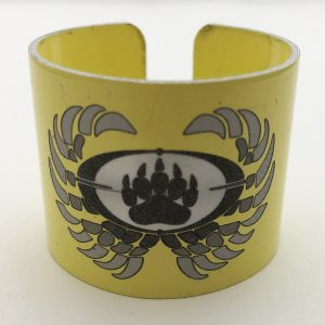 yellow napkin ring