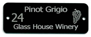 metal vineyard tag