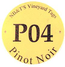 round plastic vineyard ID tag