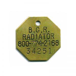 radiator ID tag