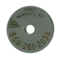 stainless steel survey tag