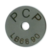 survey marker with ID #