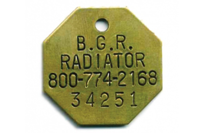 radiator ID tags