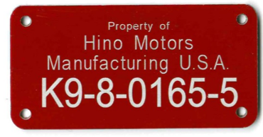 property ID tag for the automotive industry