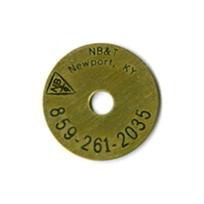brass laser etched survey marker