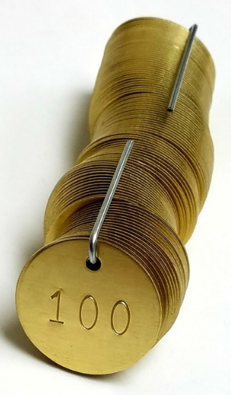 numbered brass tags