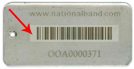 stainless steel tag with barcode