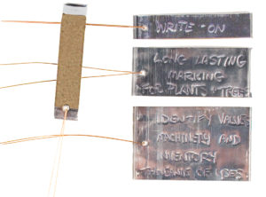 write-on tags for identification