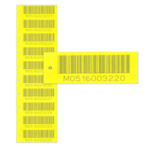 snap off vinyl tags