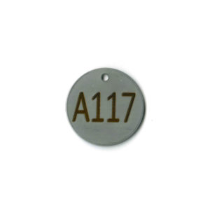 round stainless steel ID tag