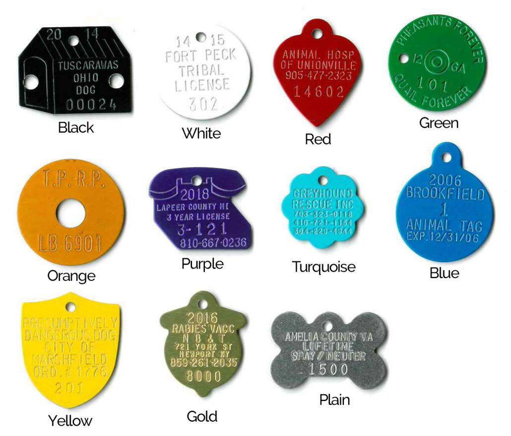 aluminum tag color options