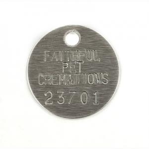 aluminum crematory tags
