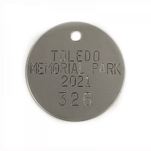 memorial park, funeral home, mortuary tags