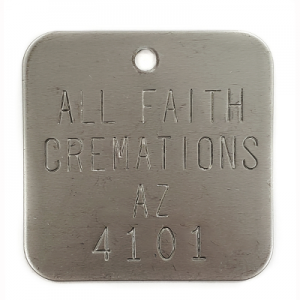 stainless steel cremation tags