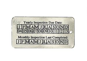 annual inspection tags and monthly inspection tags