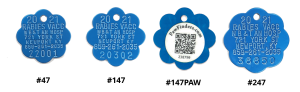 2021 rabies tags blue rosette