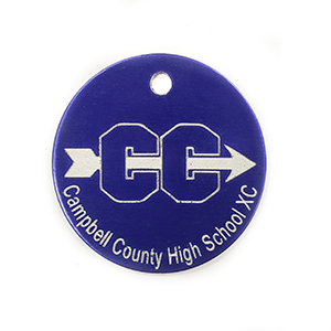 Purple High School Key Chain