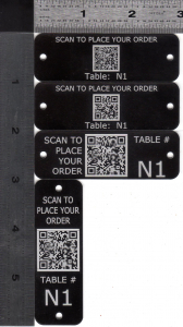 QR Coded Menu Tags for outdoors